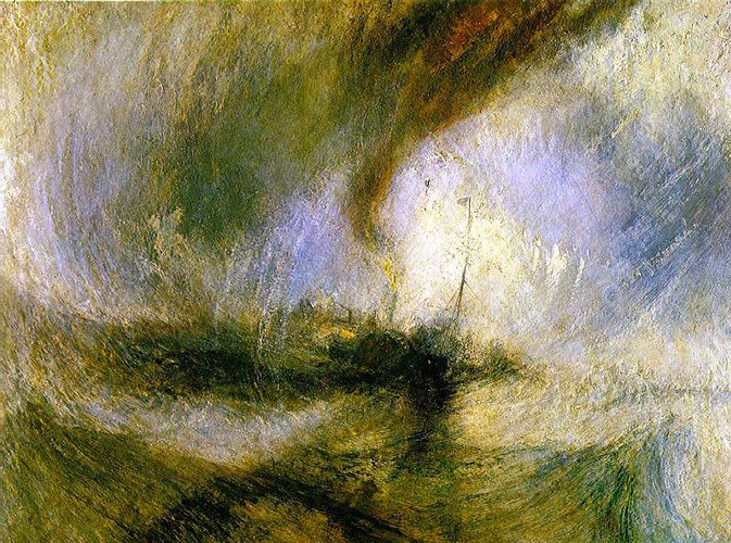Farbenspiel, Malübungen wie William Turner